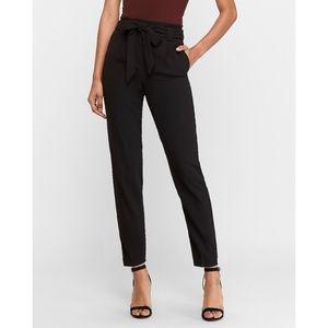 Express Paperbag Pants Black